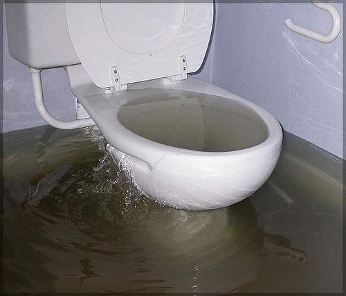 sewer flooding